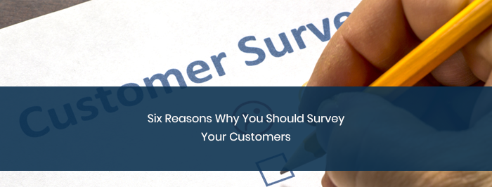 Six Reasons Why You Should Survey Your Customers